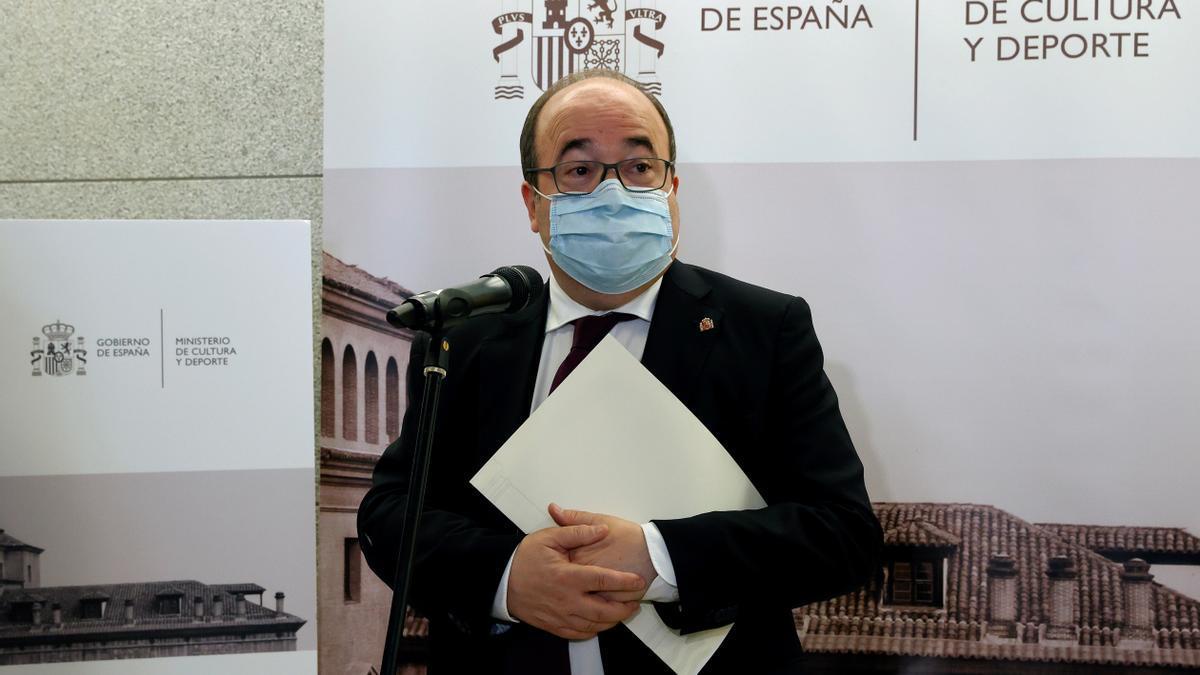 El ministro de Cultura y Deporte, Miquel Iceta, en la reunión del Pleno de laConferenciaSectorialde Cultura