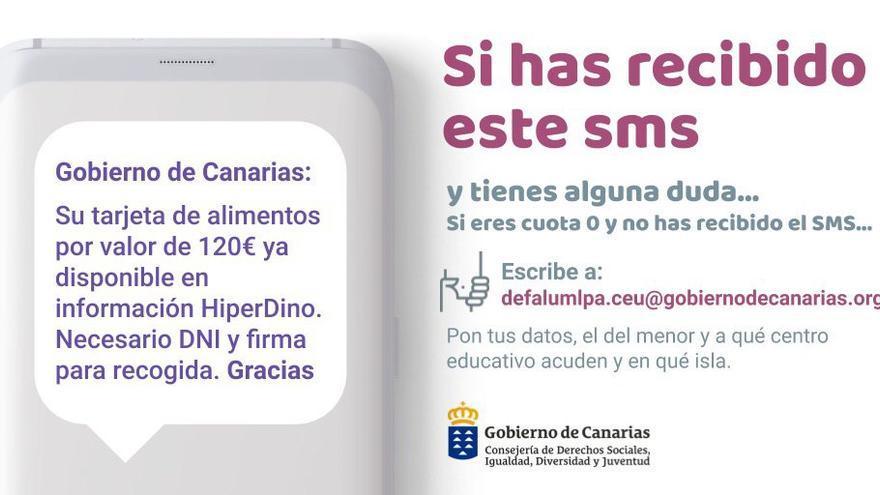 Correo para incidencias del Gobierno de Canarias.