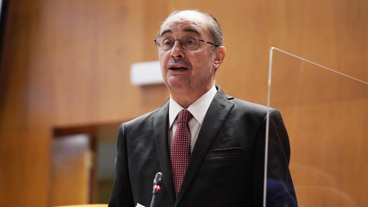 Javier Lambán es el presidente del Gobierno de Aragón.