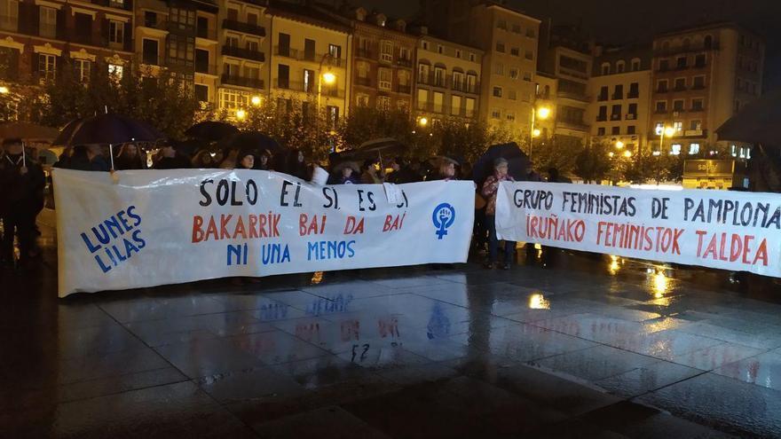 Concentración en Pamplona contra el fallo de Manresa.