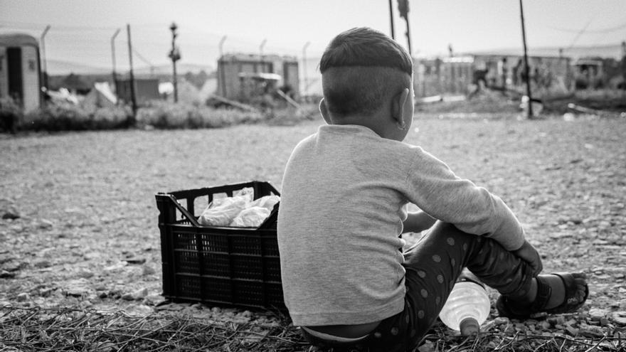 Campamento de refugiados.