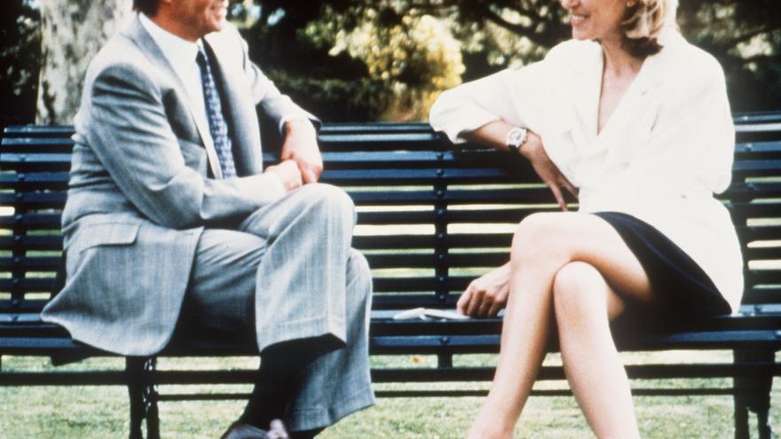 Selina Scott entrevista al rey en 1992 / EFE