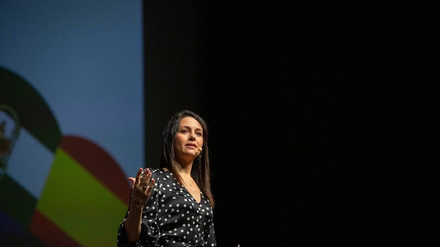La presidenta de Ciudadanos, Inés Arrimadas, durante el acto del inicio curso político en Andalucía