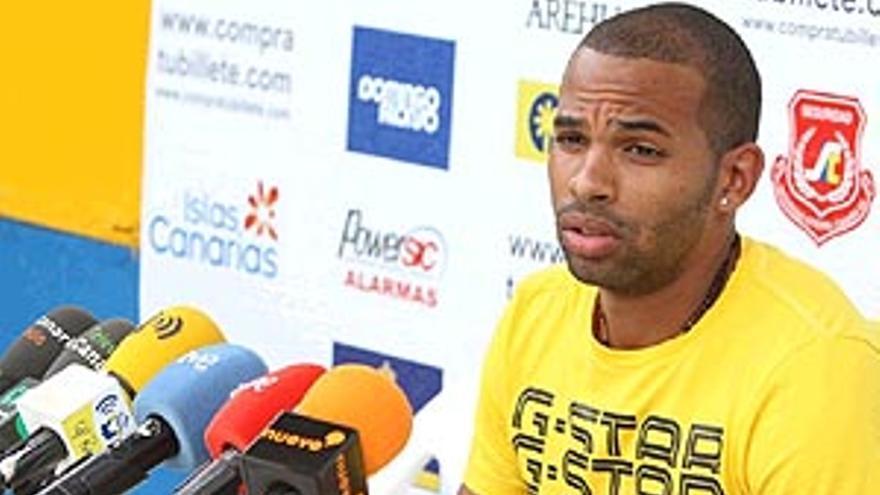 El delantero de la UD Las Palmas Randy.