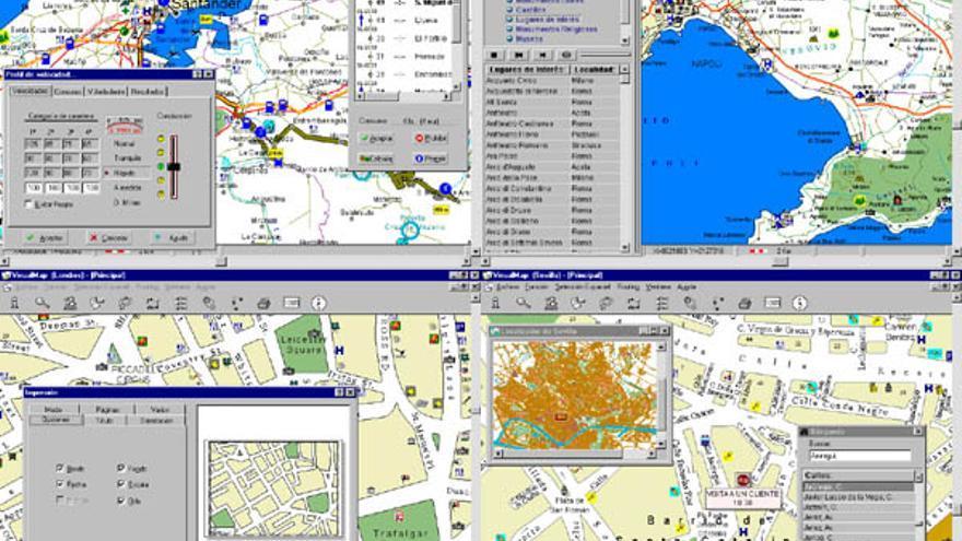 VisualMap Madrid contenía más de 7.000 calles y los horarios de los transportes