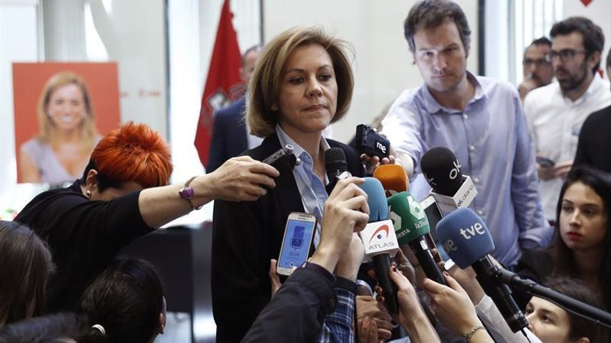 """Cospedal dice que Chacón fue """"muy valiente en todos los sentidos"""""""
