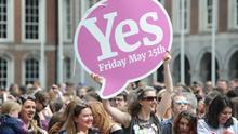 Celebraciones en Dublín por la victoria del 'sí'. Foto: EFE