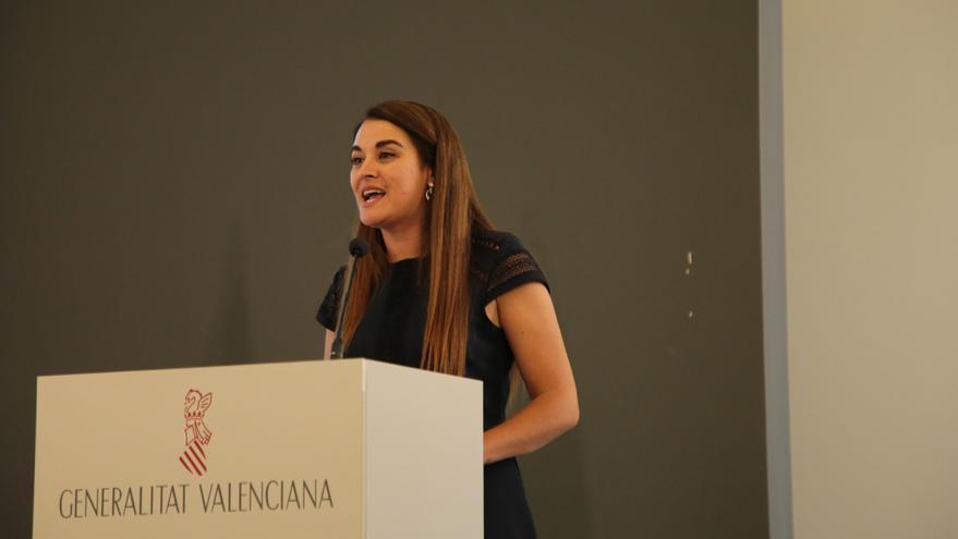 La consellera Mireia Mollà durante una intervención pública.