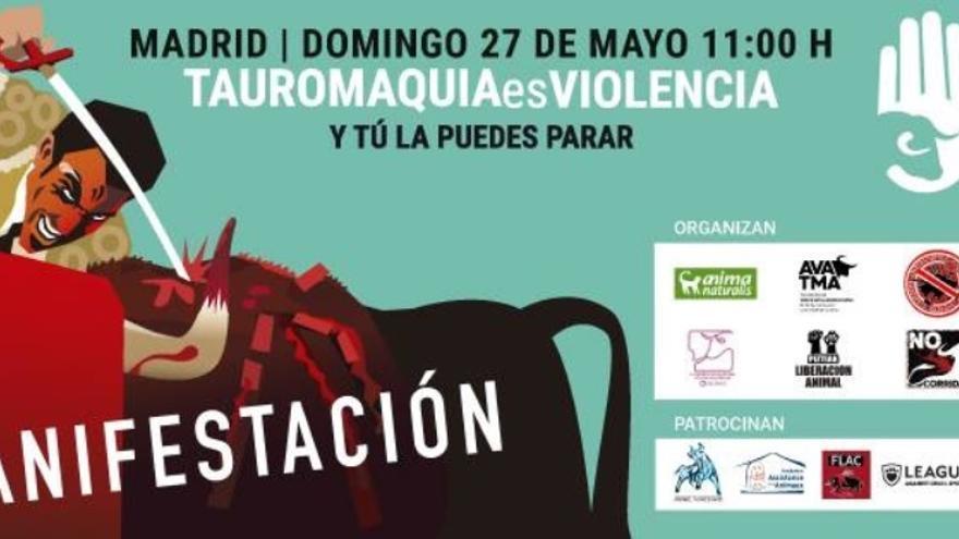 Asociaciones animalistas se manifestarán hoy para pedir la abolición de todos los festejos taurinos