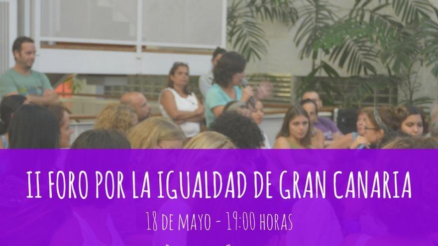 El II Foro por la igualdad se celebrará a las 19.00 horas en el Patio del Cabildo.