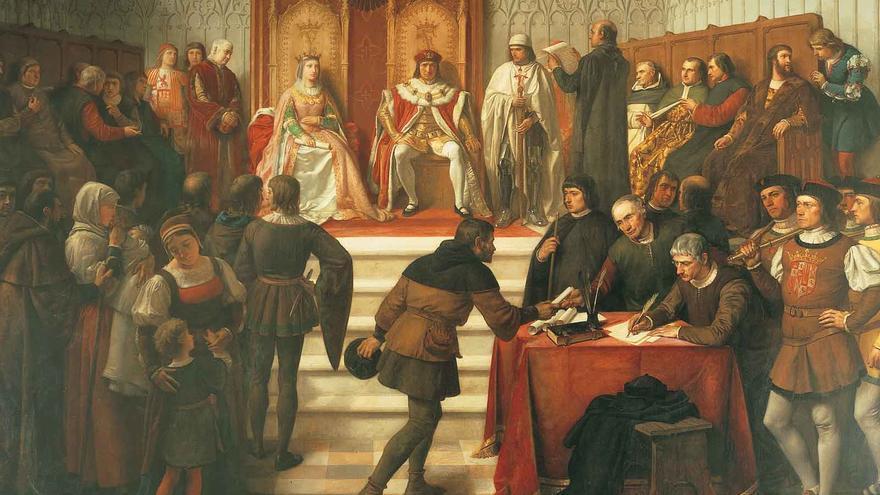 Representación de los Reyes Católicos, Isabel y Fernando /Patrimonio Nacional