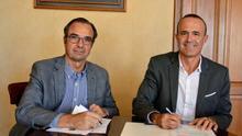 Joaquín Blanco, presidente la Federación Canaria de Vela, y Raúl Camacho, consejero de Deportes del Cabildo de La Palma.