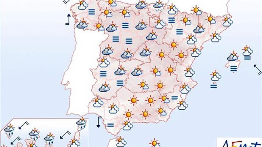 Hoy lloverá en Canarias y se producirán heladas en el norte