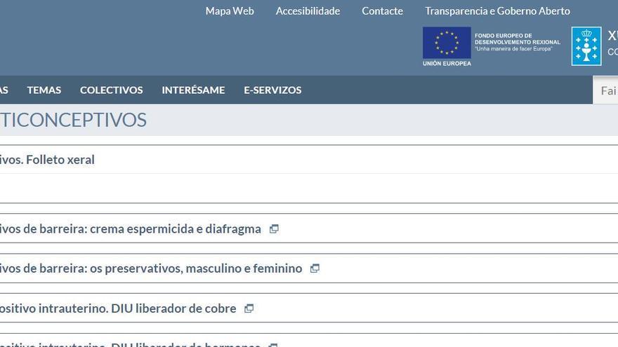 El documento ha sido retirado de la página web del Sergas, en la que se puede leer 'texto en revisión'