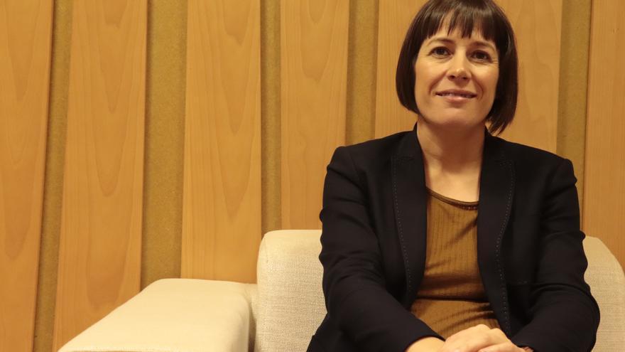 Ana Pontón, portavoz nacional del BNG, durante la entrevista