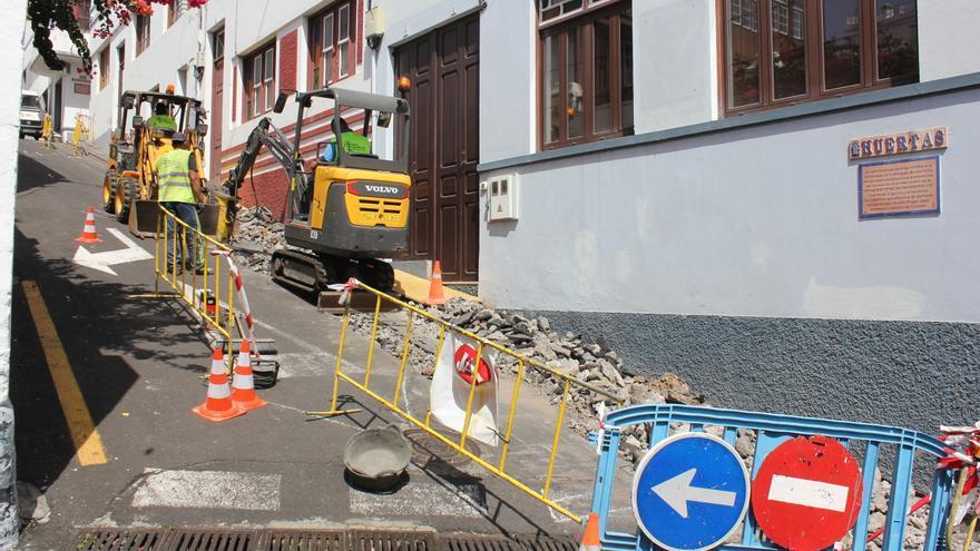 Obras en el barrio de San Sebastián.