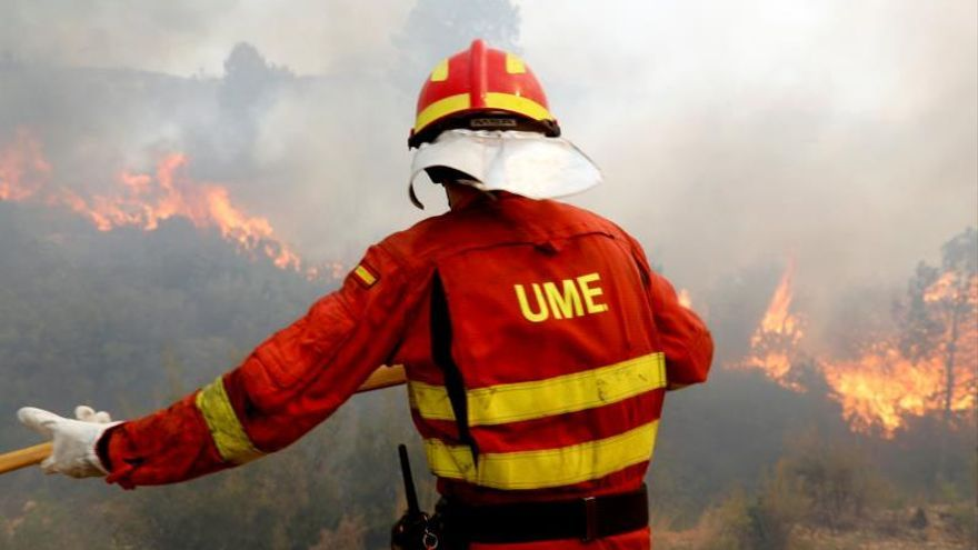 Continúan 2 focos activos en el incendio de Valencia, que no ha evolucionado más