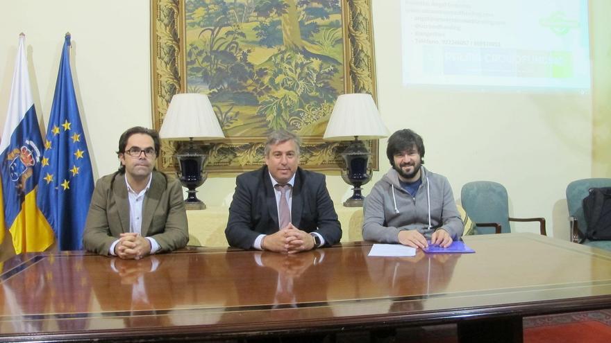 Foto de archivo de la presentación de 'La Palma Crowdfunding' en la Casa Principal de Salaza.