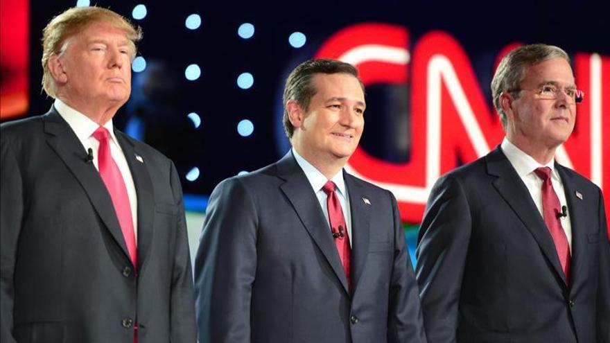 La seguridad nacional centra el debate republicano, en el que Trump y Cruz evitan enzarzarse
