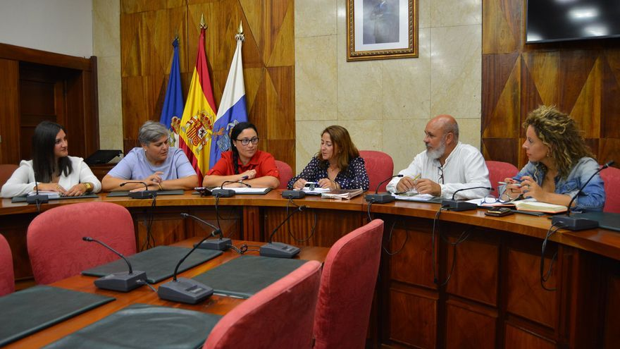 Reunión en el Cabildo con representantes de los ayuntamientos.