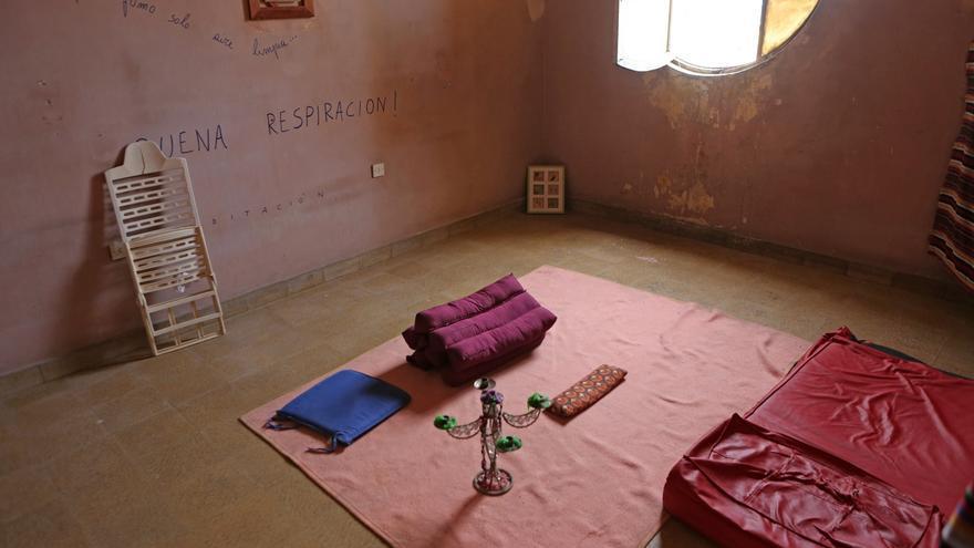 Sala para meditar en el Mural en el Centro Social La Bicicleta (ALEJANDRO RAMOS)