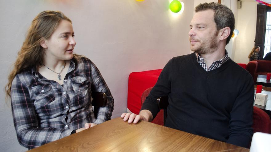 Sahar Vardi y Micha Kurz, activistas de Jerusalén./ Miguel Ángel Moreno Ramos