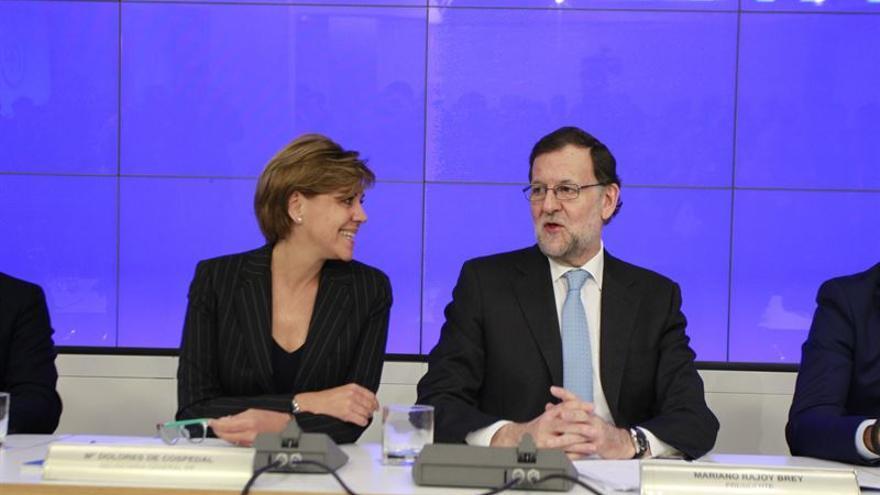 María Dolores de Cospedal y Mariano Rajoy / Europa Press