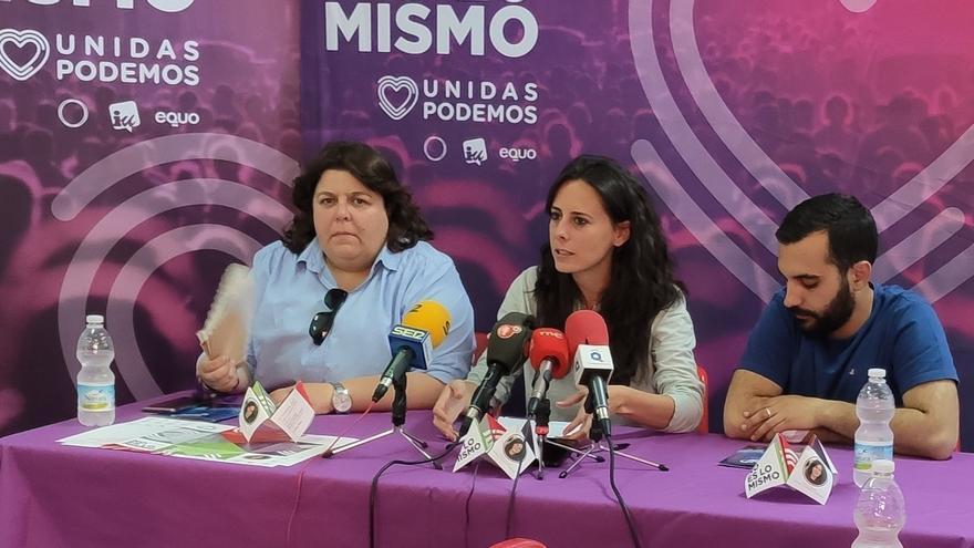 En la foto Prado Galán, Nieves Peinado y Mario Herrera FOTO: Twitter Unidos Podemos Ciudad Real
