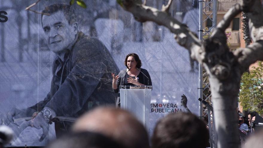 Ada Colau, en el acto de inauguración de la calle Pepe Rubianes