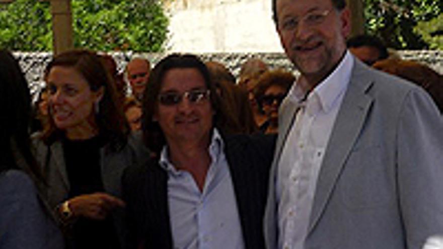 Cristina Tavío, Di Giorgio y Rajoy.