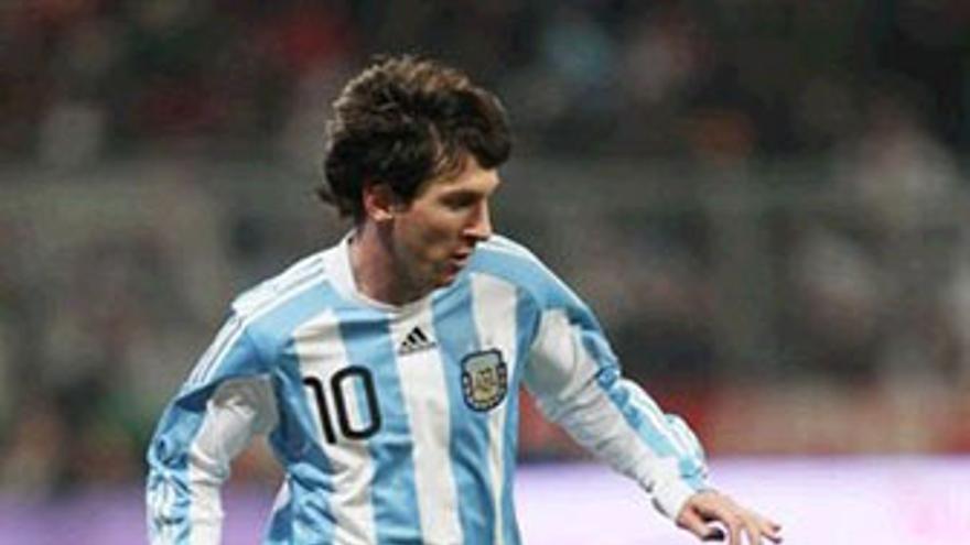 Messi, estrella de Argentina. (BONGARTS)