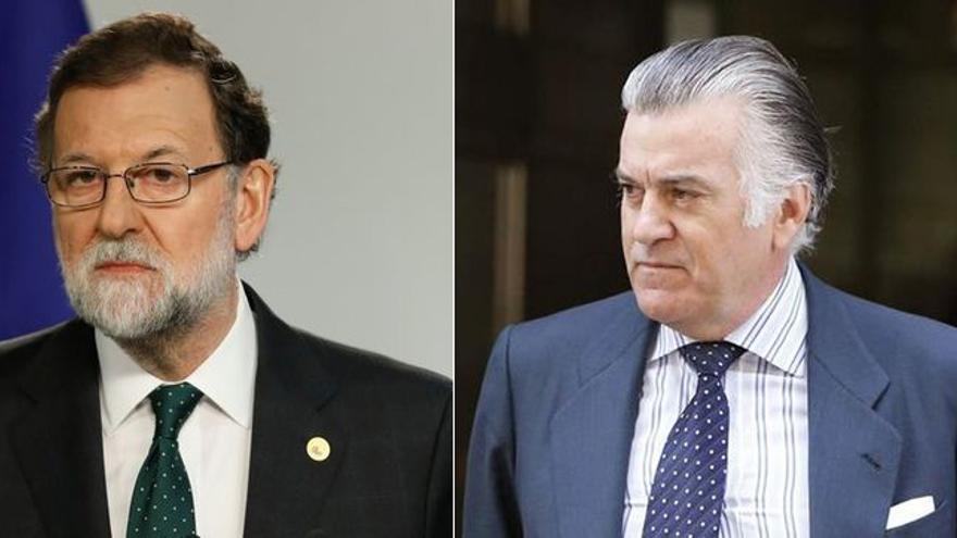 Montaje con Mariano Rajoy y Luis Bárcenas