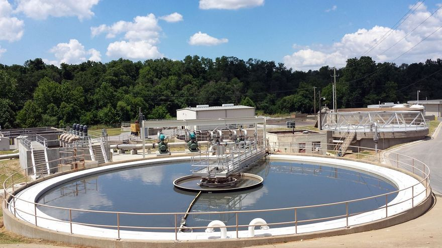 La planta de Valenton donde se realizan estas primeras pruebas de generación de biogas a partir de aguas sucias.