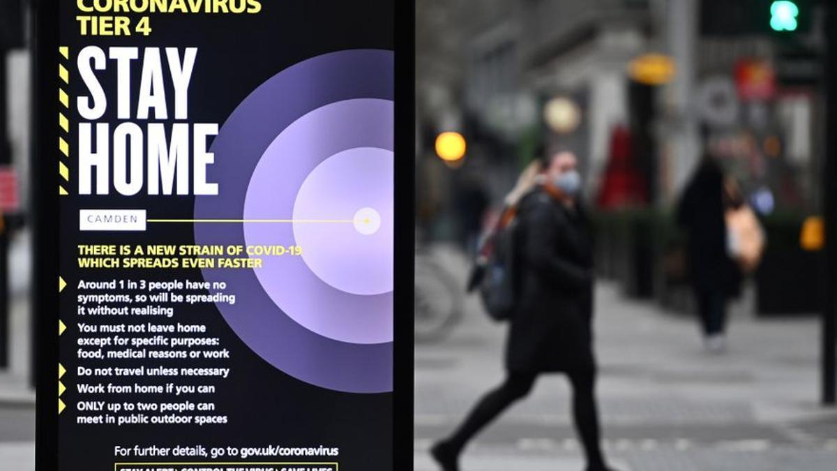 Reino Unido estrena 2021 con otros 53.285 nuevos contagios por Covid-19.
