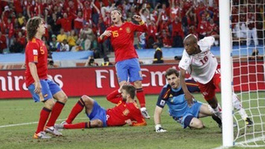 España pierde ante Suiza