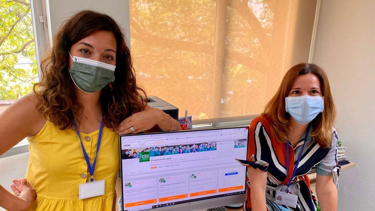 Las periodistas Gema Timón y Monte Mora.
