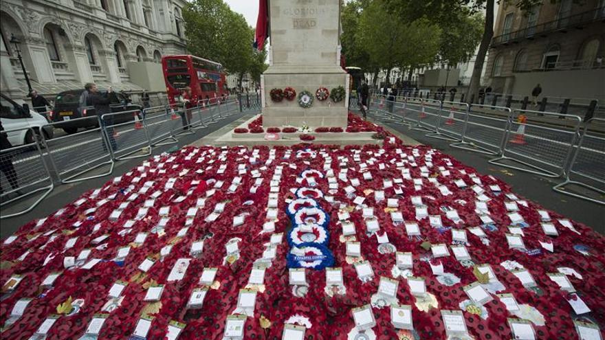 El Reino Unido guarda dos minutos de silencio por el Armisticio de la I Guerra Mundial