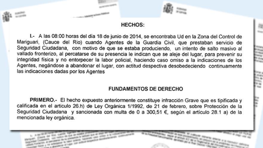 Relato de los hechos de la denuncia a los periodistas mientras hacían su trabajo en los alrededores de la valla de Melilla