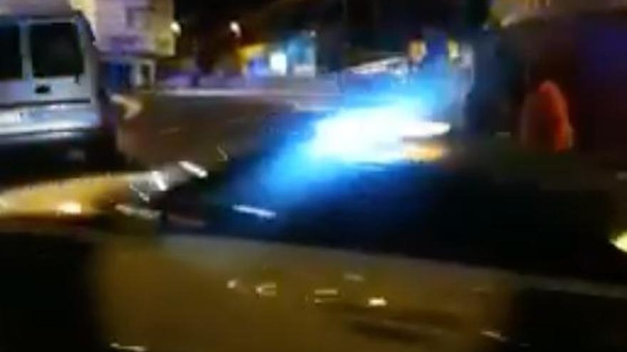 Persecución policial en Arguineguín