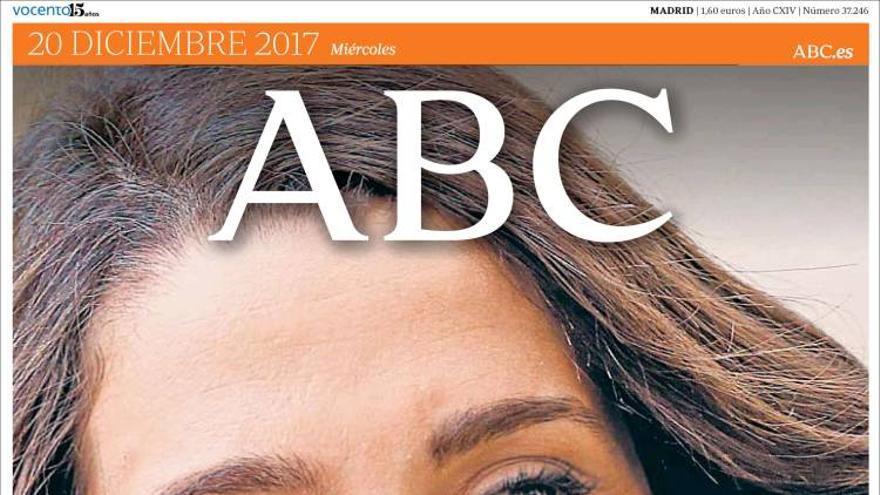 Portada del ABC en la jornada de reflexión