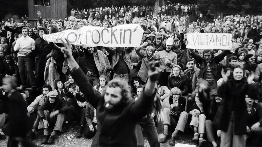 Captura del documental Soviet Hippies, dirigido por Terje Toomistu