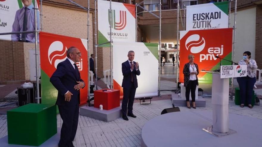 """Urkullu pide el voto para contar con un gobierno con """"mayoría sólida para enfrentar los retos"""" de la crisis"""