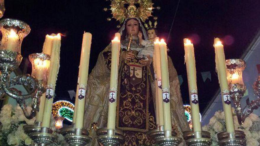 La virgen del Carmen de Prado del Rey (Cádiz). // Imagen: Facebook.