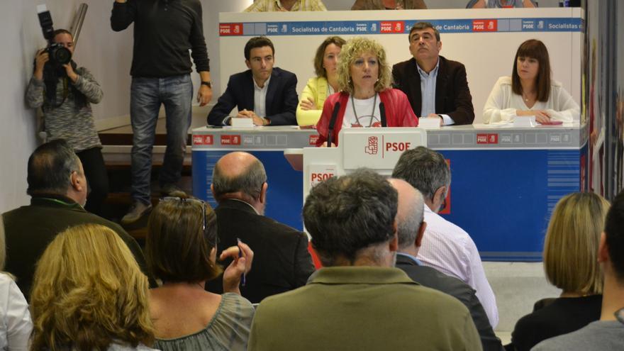 Díaz Tezanos durante su internvención ante el Comité Regional del PSOE.