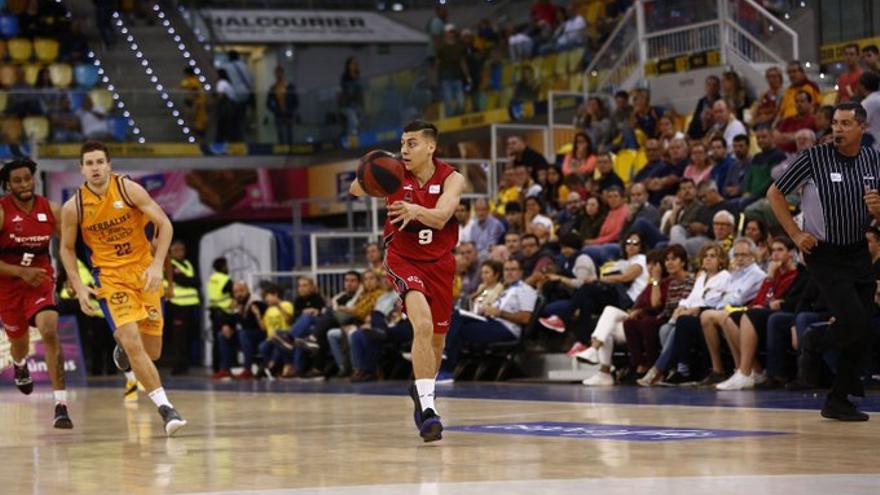 El base grancanario, en su última aparición en el Gran Canaria Arena