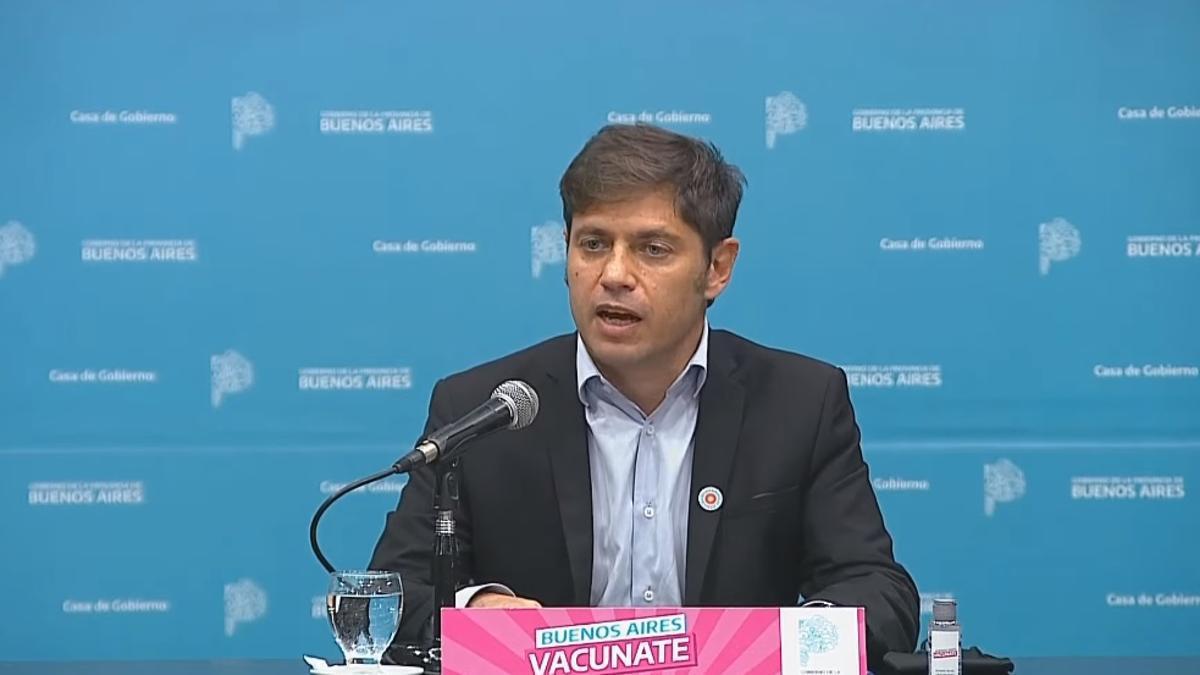 Conferencia de prensa del gobernador Kicillof