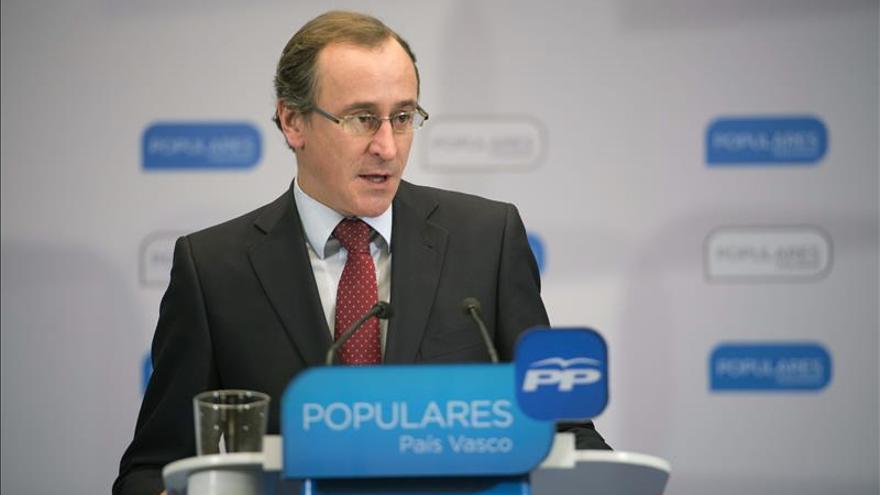 Alonso aboga por exigir a Podemos que tenga por bandera la unidad de España