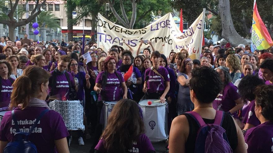 Inicio de la manifestación en el Parque San Telmo en Las Palmas de Gran Canaria.