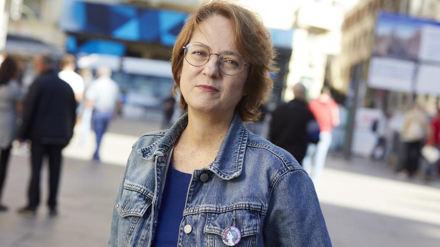 Marta Sanz, fotografiada en Madrid.