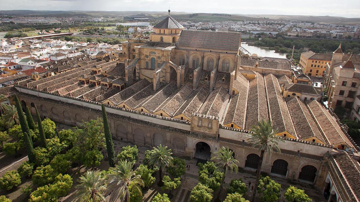 Vistas desde la torre alminar de la Mezquita Catedra.